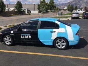 Vehicle Graphics partial car wrap vehicle graphics lettering vinyl 300x225